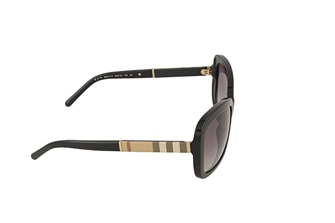 d0f053a8f355 Amazon.com: Burberry BE4173 300111 Black BE4173 Rectangle Sunglasses Lens  Category 2 Size 5: Clothing