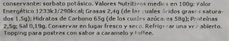 Nick Salsa de Caramelo Toffee Dulce - Paquete de 10 x 250 gr - Total ...