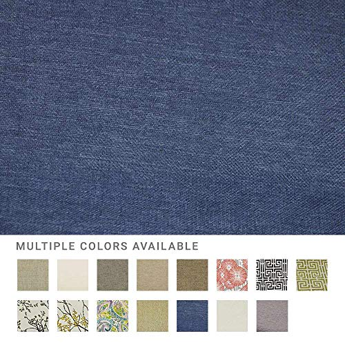 (eLuxurySupply Fabric by The Yard - Polyester Blend Upholstery Sewing Fabrics with LiveSmart Technology - Peyton Navy Pattern)