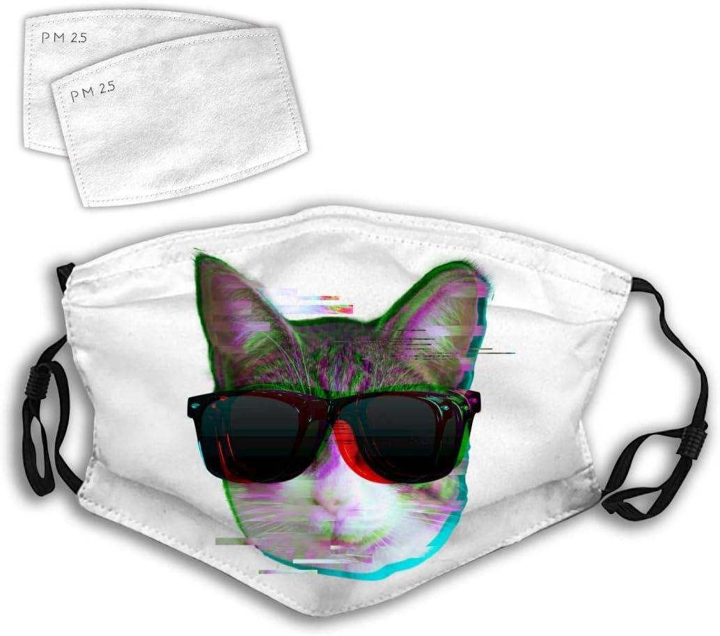 Polvo de Gafas de Sol con Gato defectuoso de Moda Polvo de Boca de Filtro para Acampar Reutilizable Lavable