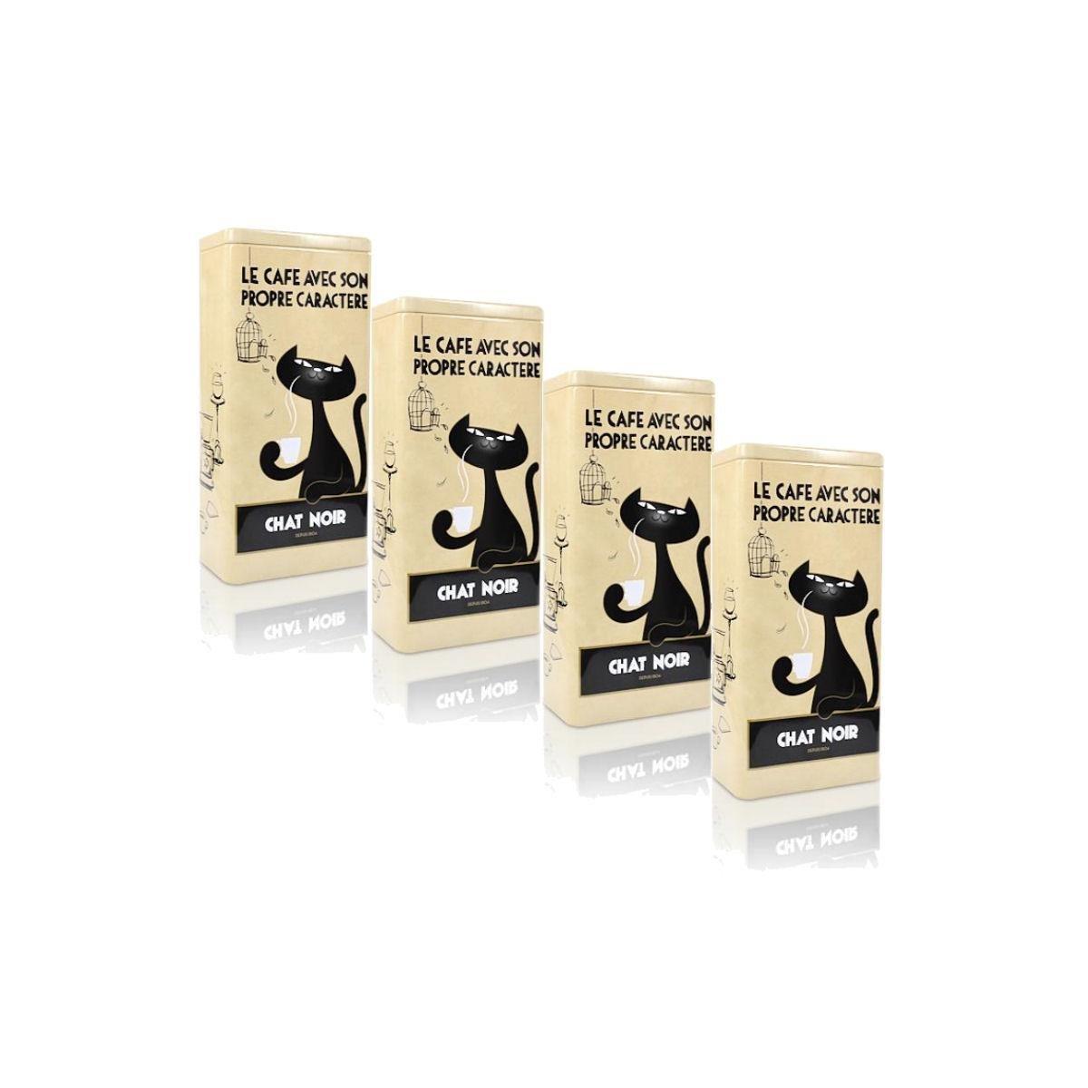 beige Aufbewahrung der Kaffee Bohnen 3 x Zwarte Kat Kaffeedose Chat Noir