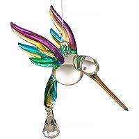Tropical soplado a mano y colibrí colgante