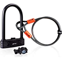 BV Bicycle Combination U-Lock with 4ft Flex Cable
