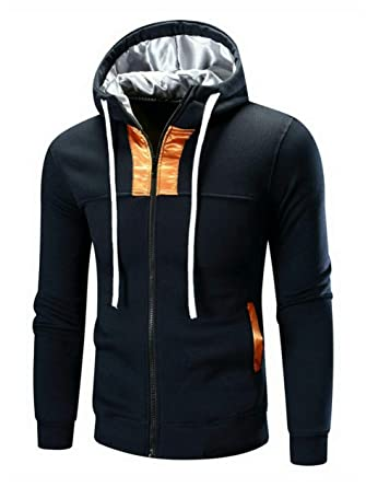 b73c14289 JollyChic Dark Navy Round Neck Hoodie & Sweatshirt For Men: Amazon ...