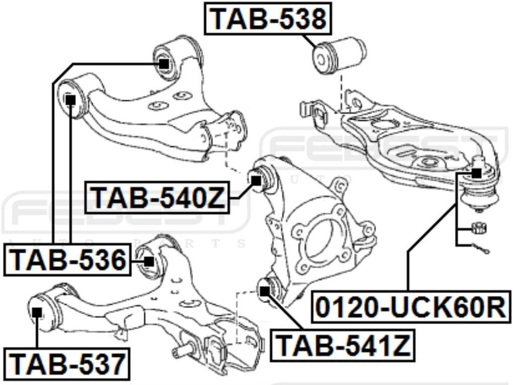 1 YEAR WARRANTY Arm Bushing Rear Assembly Febest # TAB-540Z 42305-0C010