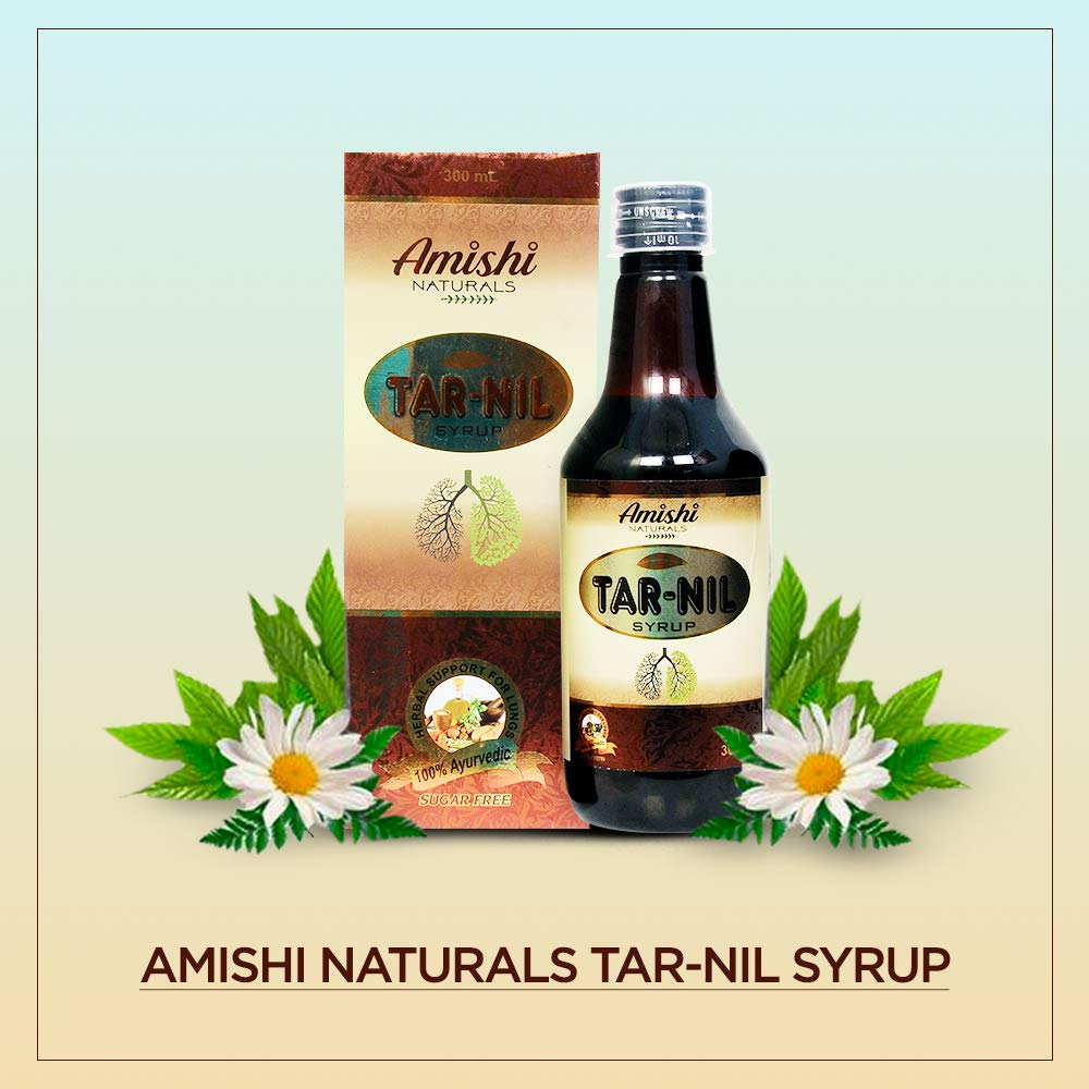 Amishi Naturals Tar-Nil Syrup Ayurvedic Medicine for Smoker's Cough,  Bronchitis, Asthma, Lung infection