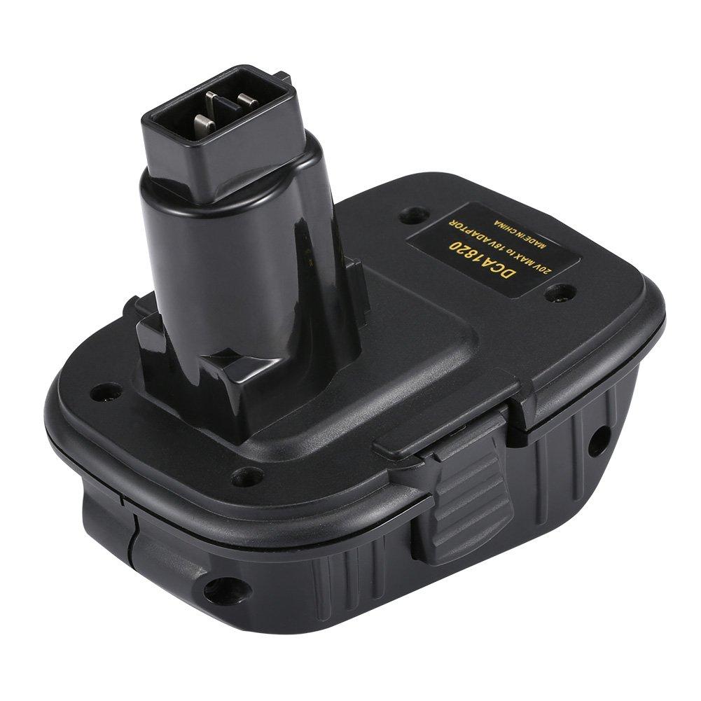 Symboat La batterie de lithium de DCA1820 18V//20V convertissent au nickel /électrique et /à ladaptateur doutils de chargeur pour des batteries de Dewalt