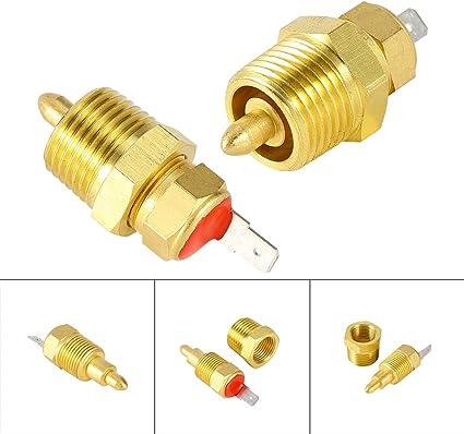 Interruttore termostato ventola del radiatore oro 185 a 175 gradi interruttore del ventilatore del motore elettrico con filettatura 3//8per 10 1214 16ventola