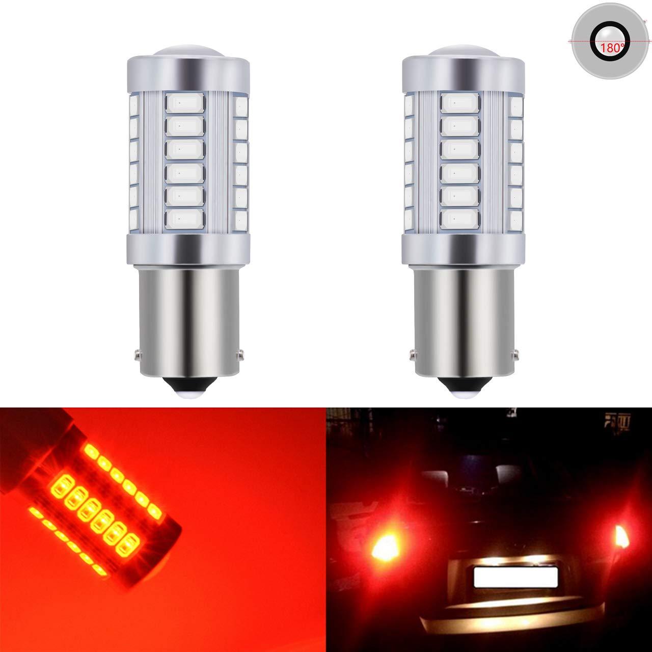 Paquetes de bombillas de repuesto LED blancas de 900 lú menes y 8000 K, muy brillantes, para las luces traseras, de freno, de marcha atrá s, intermitentes, luces laterales de marcador, traseras, de parada, de seguridad, de 12&nbsp