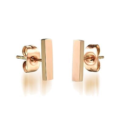 UM Jewellery Womens Smooth Stainless Steel Straight Line Thin Bar