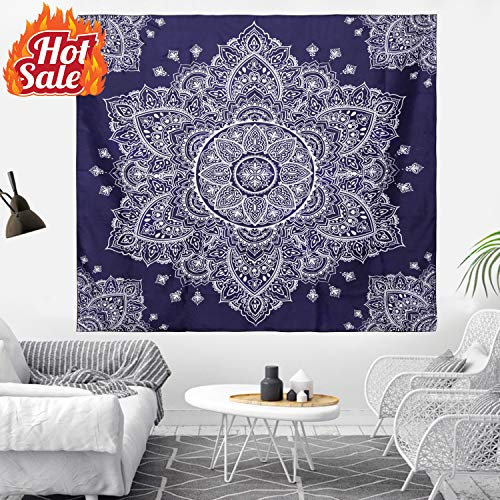 - Kithouse Wall Tapestry Mandala Tapestry Wall Hanging Hippie Psychedelic Bohemian Tapestry for Men Women Boys Girls - Trippy Boho Tapestry for Bedroom Dorm Living Room Decor(Dark Blue, 59