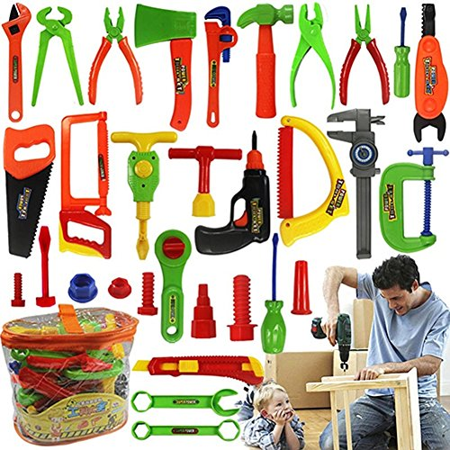 Gilroy Kids Tool Set 32PCS Pretend Play Tool Toys Construction Accessories Workshop toys For - Shops Gilroy