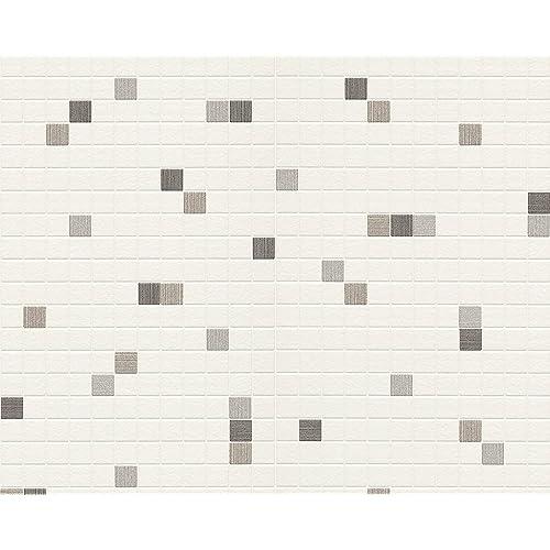 papier peint salle de bain. Black Bedroom Furniture Sets. Home Design Ideas