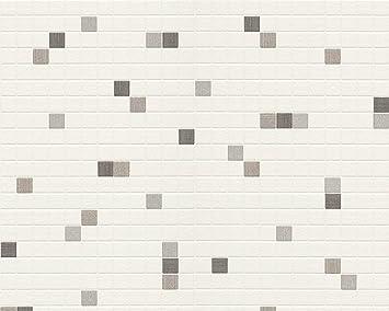 Parfait Livingwalls 607744 Papier Peint Cuisine Carreaux De Salle De Bain (Import  Allemagne)