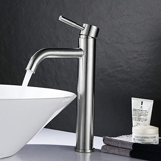 aimeishi Lavabo grifo_304 acero inoxidable cepillado lavabo ...