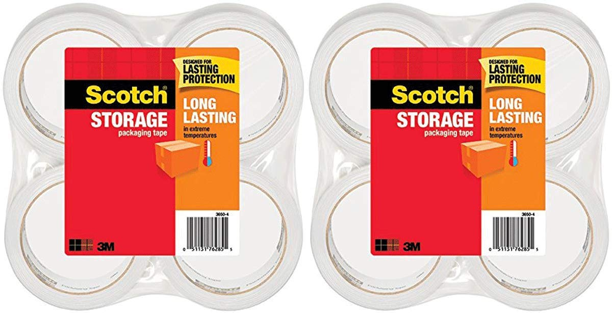 gsdt 3650-4 Long Lasting Storage Packaging Tape, 1.88 Inches x 54.6 Yards, 4 Rolls 2 Pack