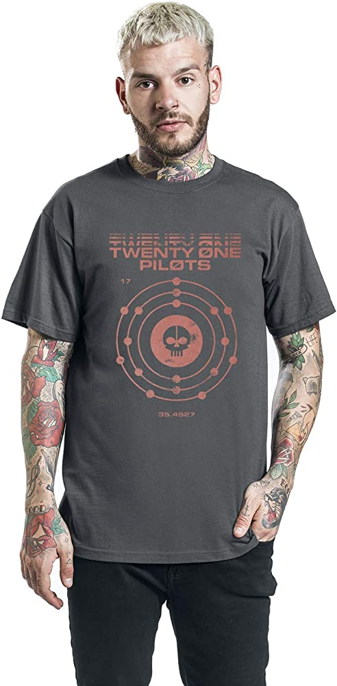 Twenty One Pilots Atomic Camiseta Antracita M: Amazon.es: Ropa y accesorios