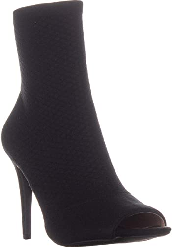 Inc International Concepts Womens Rielee Fabric Open Toe Mid-Calf Fashion Boots