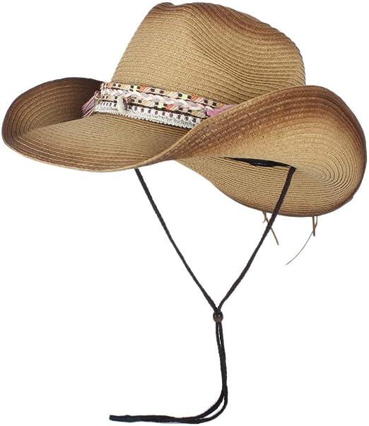 NTFZ Sombreros y Gorras Sombrero de Vaquero de Paja Natural for ...