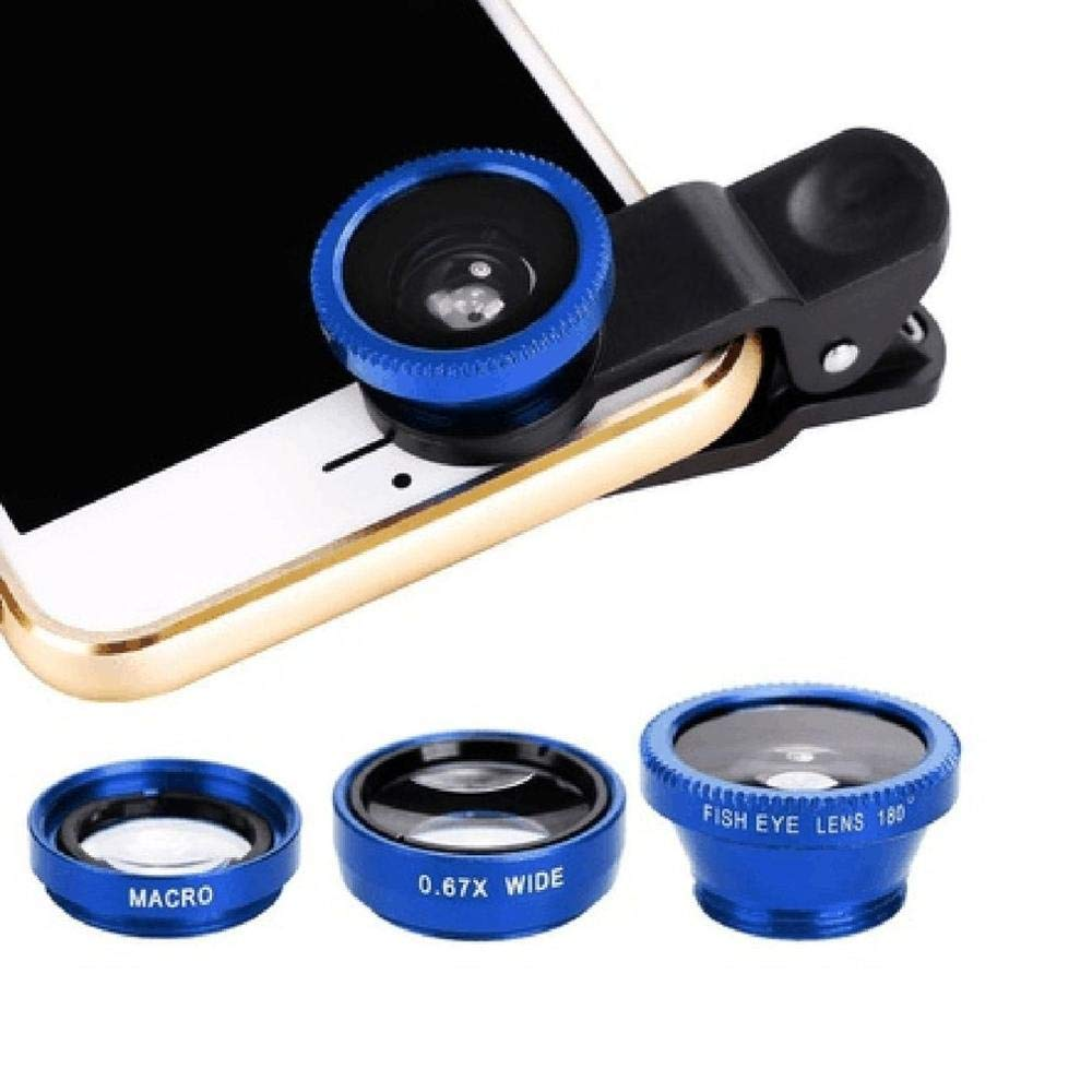 3-in-1 Wide Angle Macro Fisheye Lens Camera Kits Mobile Phone Fish Eye Lenses with Clip 0.67x for iPhone Samsung All Cell Phones: Amazon.es: Deportes y aire libre