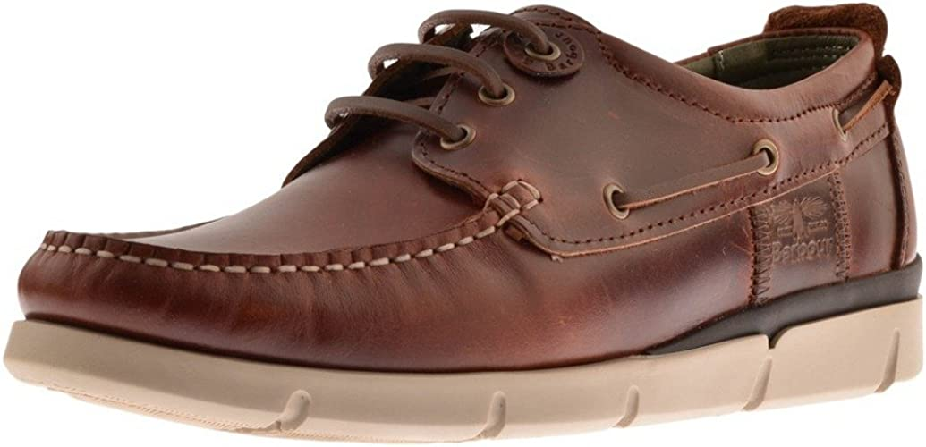 Mens Barbour George Boat Shoes Brown