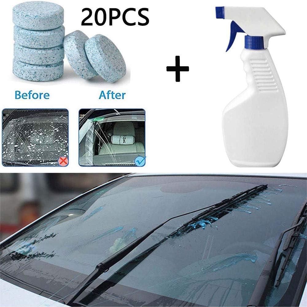 Aubess - Juego de limpiador de espray multifuncional, para el hogar, baño, coche, limpieza de vidrio, eliminador de manchas concentrado y efervescente (1 botella de spray con 10 piezas): Amazon.es: Hogar
