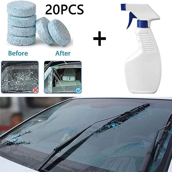 Aubess - Juego de limpiador de espray multifuncional, para el hogar, baño, coche, limpieza de vidrio, eliminador de manchas concentrado y efervescente (1 ...