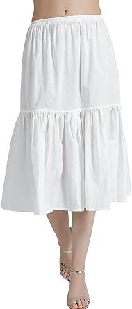 BEAUTELICATE - Falda para mujer (100% algodón, 5 longitudes ...