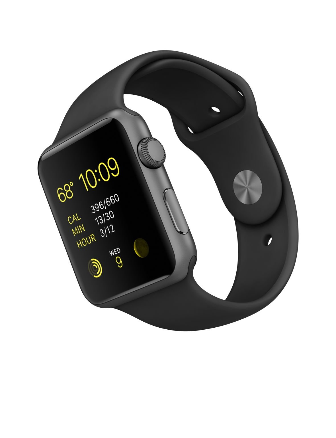 Apple Watch 42mm Space Gray Aluminum Case Black Sport Band by Apple (Image #2)
