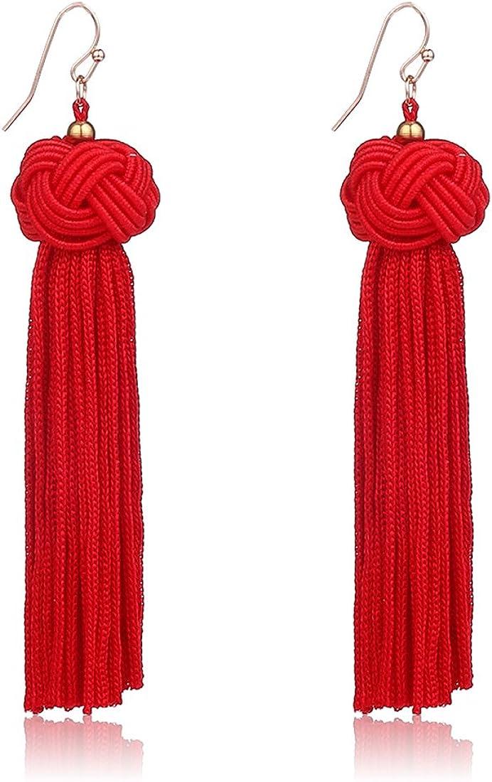 Knotted Tassel Earrings...