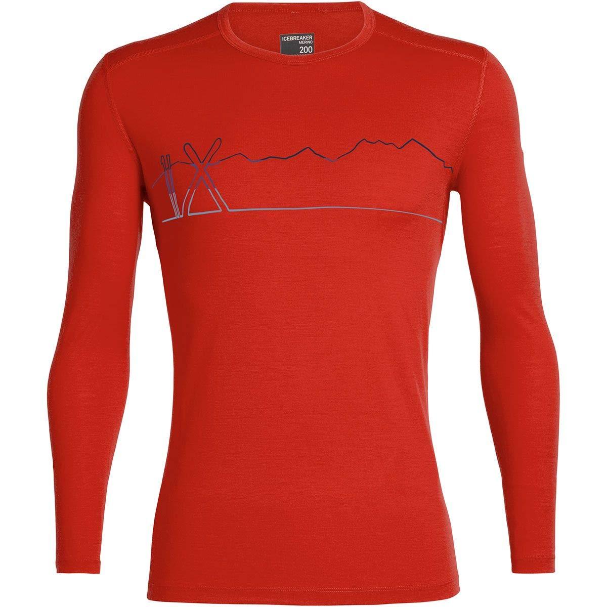 Icebreaker 200 Oasis Longsleeve Crewe Shirt - Snap Head - Men - Langarmshirt