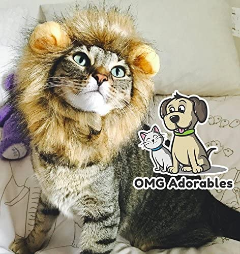 OMG Adorables Lion Mane Costume for Cat 25