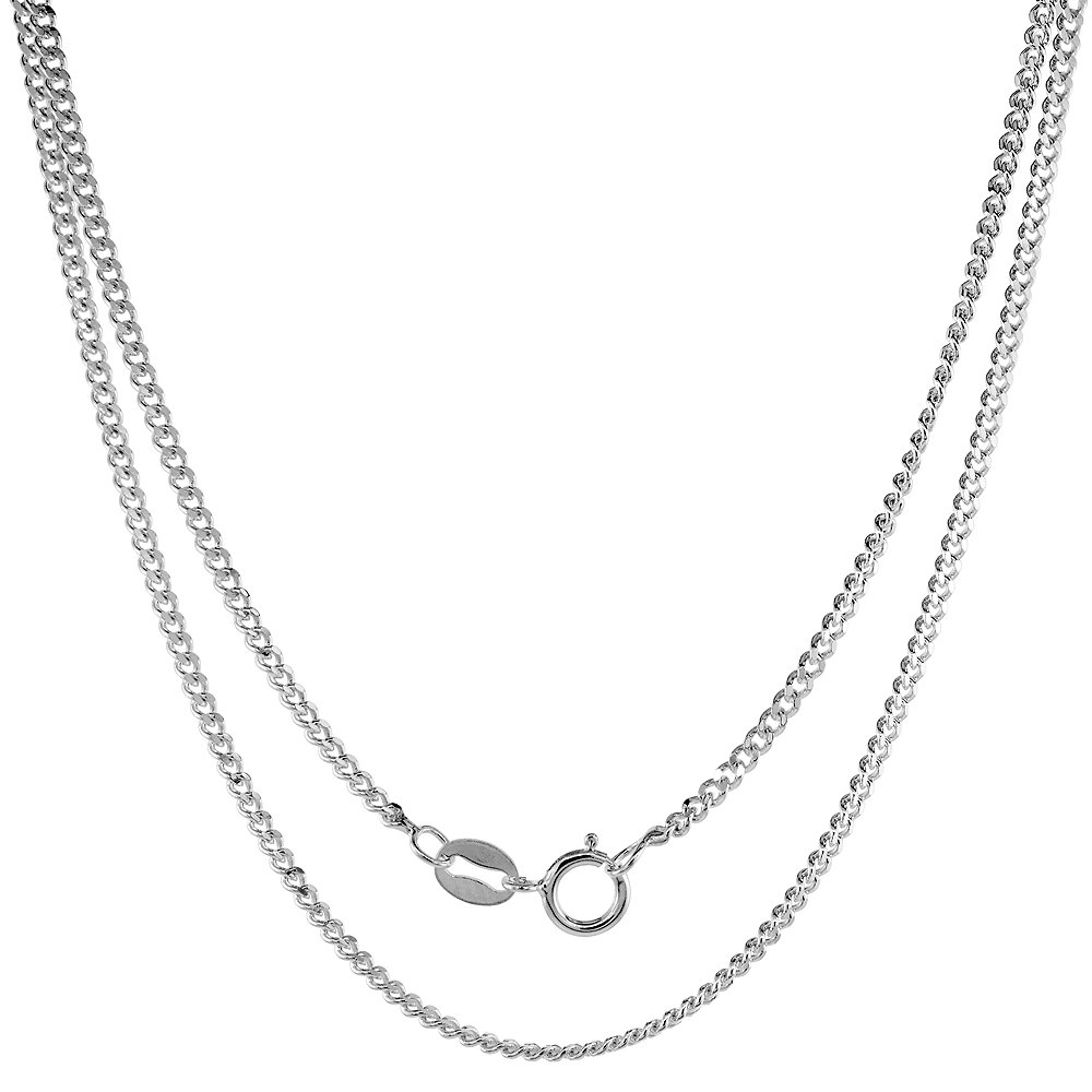 Sterling Silver St Vincent Medal Necklace Oval 1.8mm Chain