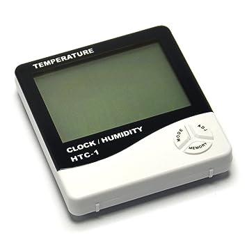 Gikfun hogar digital LCD temperatura medidor de humedad reloj HTC-1 Higrómetro Termómetro para Arduino ae1273: Amazon.es: Electrónica