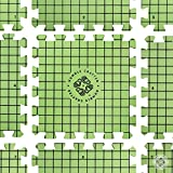 Blocking Mats for Knitting - Special Grid with exact 1 inch squares - includes 100 T-Pins for Needlepoint or Crochet - Green