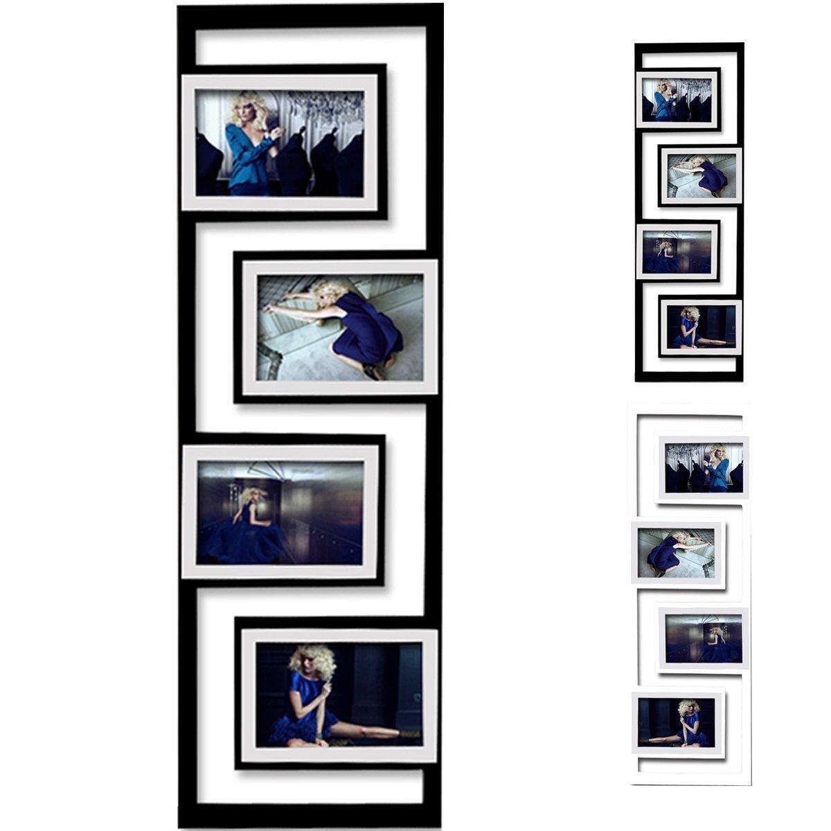 Amazon.de: 4 Fotos Collage Bilderrahmen #3, Holz Rahmen, zum Hängen ...