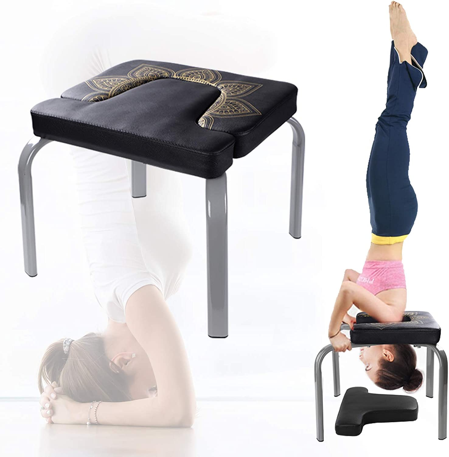 Amazon Com Scool Yoga Headstand Bench Yoga Inversion Chair Great For Workout Fitness And Gym Sports Outdoors