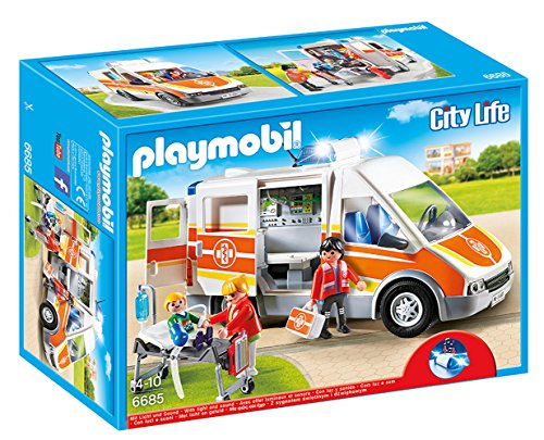 Rescue Ambulance - PLAYMOBIL Ambulance with Lights and Sound