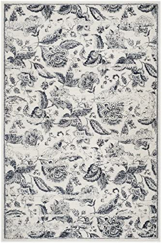 Safavieh Carnegie Collection CNG622C Vintage Distressed Non-Shedding Stain Resistant Living Room Bedroom Area Rug