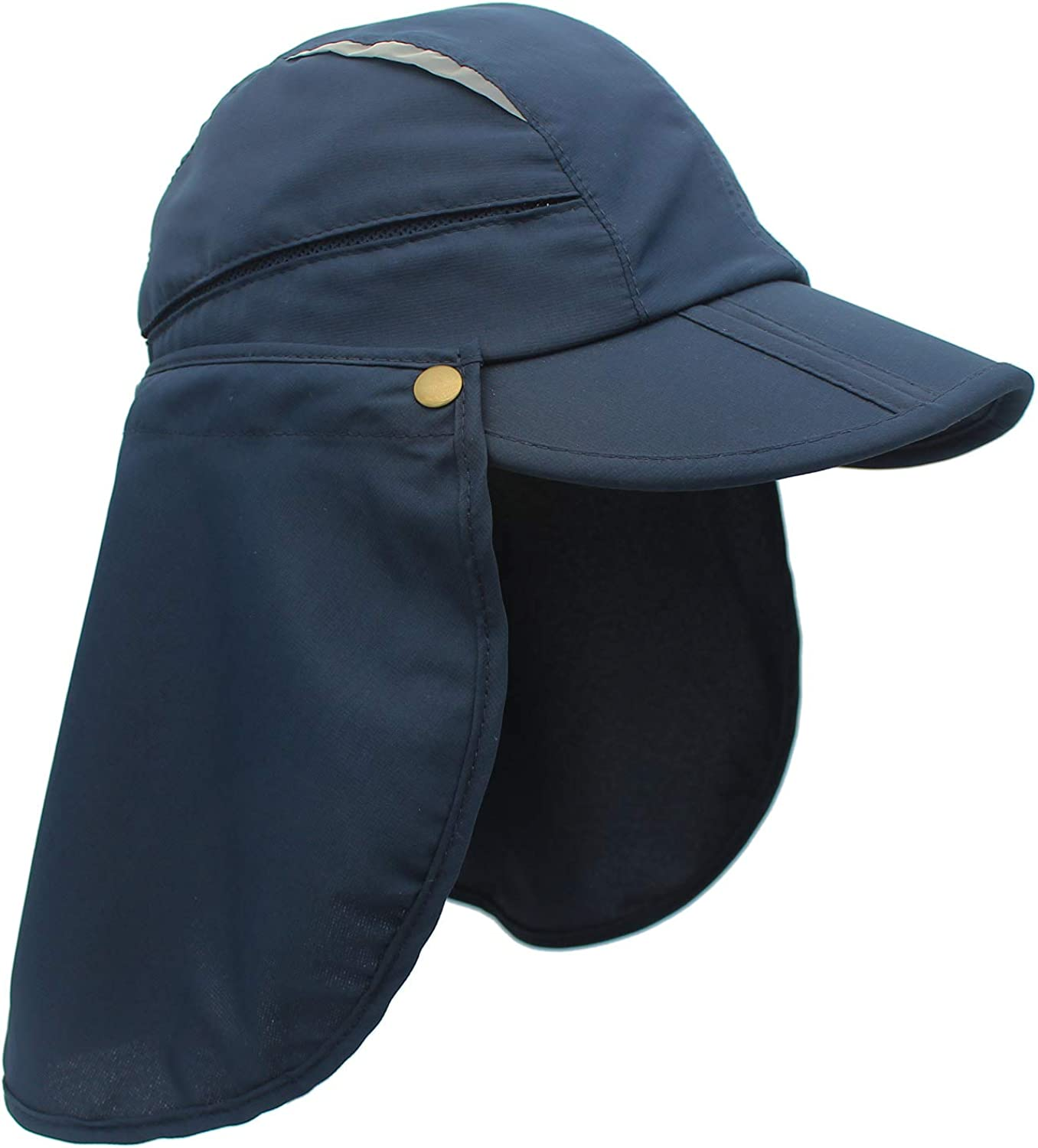 Home Prefer Boys UPF 50+ Sun Protection Cap Quick Dry Fishing Hat with Neck Flap