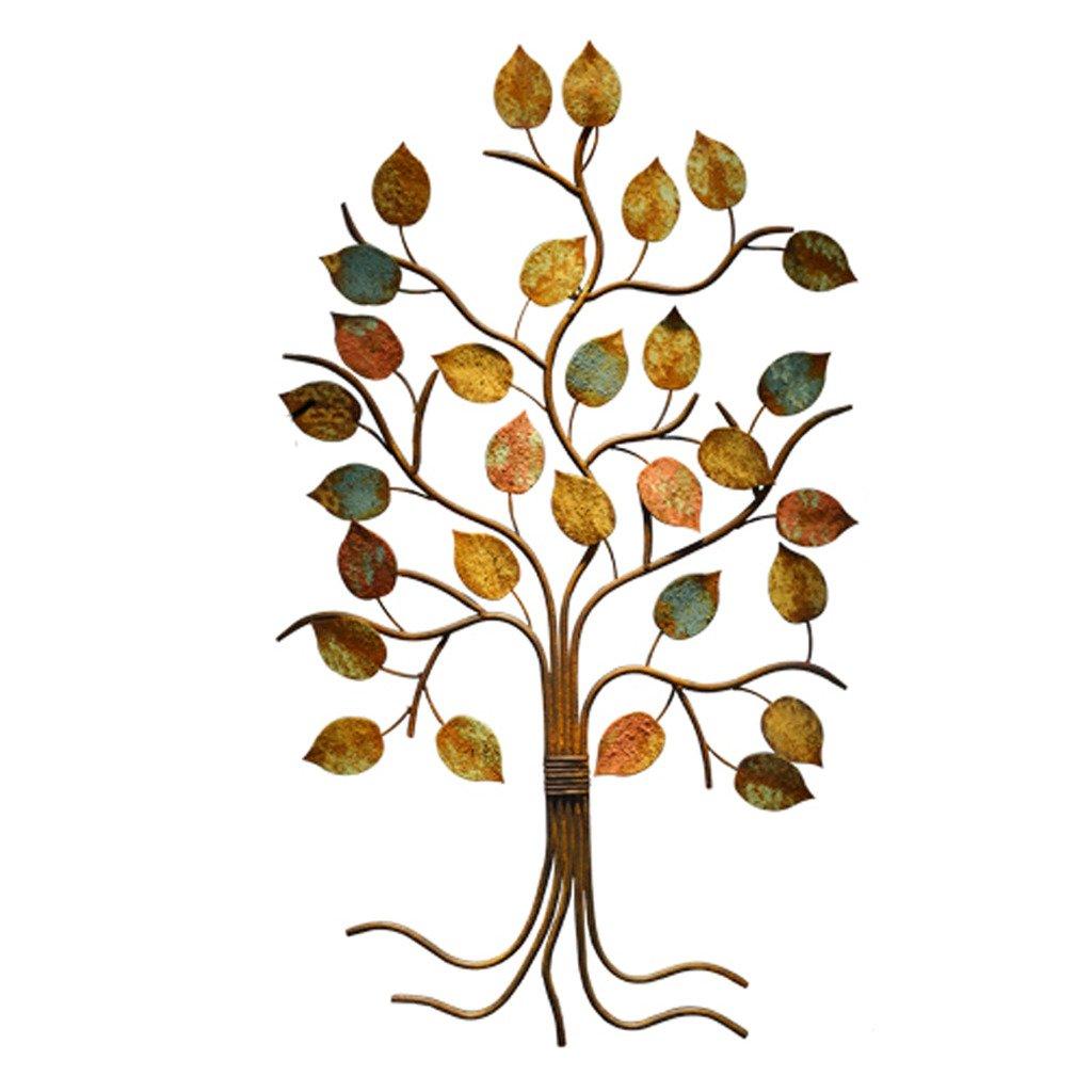 ウォールアート アイアン 植物 木の壁飾り 葉 オブジェ 壁飾り 雑貨ウォールデコ ウォールデコレーション ウォールディスプレイ 茶室 玄関 アイアン 店舗什器 店舗装飾 OSONA B01LQ8Y1DQ