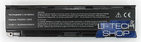 5200mAh Batería Para TOSHIBA SATELLITE L 850-138 SL850138 Ordenador Portátil Negro