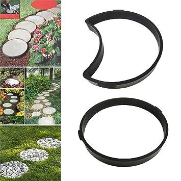 Moldes de hormigón para Jardines Irregulares, DIY adoquines de jardín Paseo de pavimento de concreto