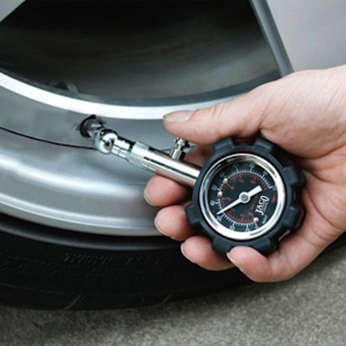 Manómetro para medir la presión de los neumáticos, deluxe JACO – 100 psi (6894 mbar): Amazon.es: Coche y moto