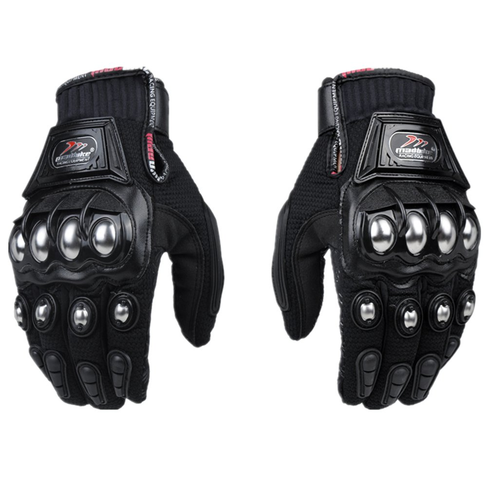 Motorcycle gloves large - Amazon Com Ilm Alloy Steel Knuckle Motorcycle Motorbike Powersports Racing Tactical Paintball Gloves L Black Automotive