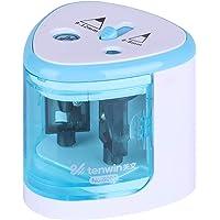 Aibecy Sacapuntas eléctrico automático de 2 agujeros (6-8 mm/9-12 mm), funciona con pilas, para uso doméstico y escolar…