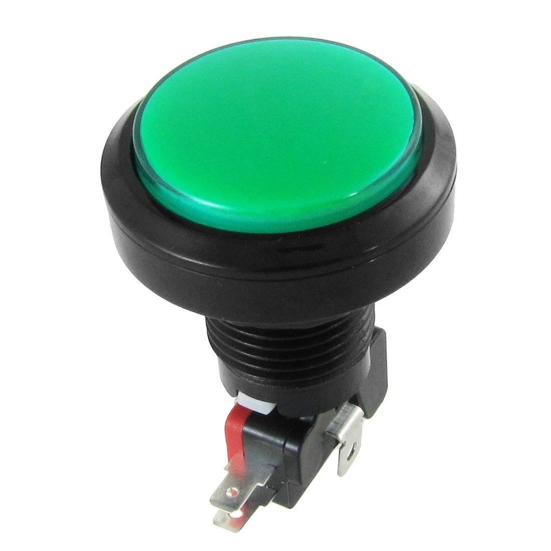 Momentary Push Button Switch - TOOGOO(R) 12V DC LED Light Illuminated Green Round Momentary Push Button Switch 1 NO 1 NC