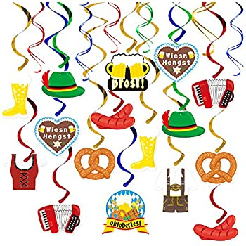 3oct Oktoberfest Party Hanging Swirl Decorations Kit German Beer Festival Hanging Decor Perfect For The Oktoberfest German Beer Party Germany Munich