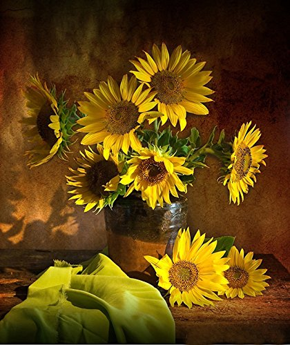 Yellow Flowers Sunflower Pictures Print on Canvas Wall Art for Home
