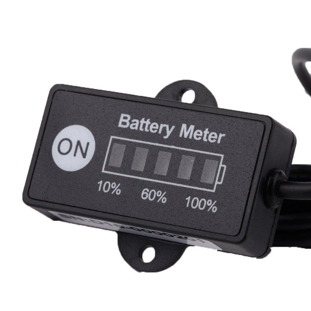 Docooler 12V 24V LED Battery Indicator Meter Gauge for Lead-ACID Battery